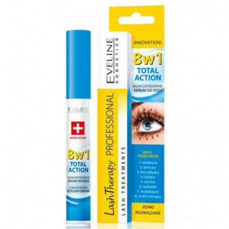 Eveline Lash Therapy Professional Total Action 8w1 Aktywne Serum Do Rzęs 10ml