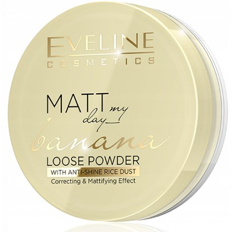 Eveline Matt My Day Banana Loose Powder Sypki Puder Bananowy 6g