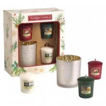 Yankee-Candle-Magical-Christmas-Morning-zestaw-3-samplerów-świecznik-drogeria-internetowa-puderek.com.pl