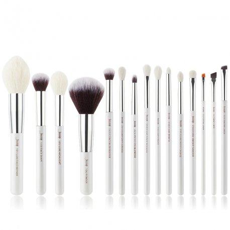 Jessup T242 Brushes Set White/Silver zestaw 15 pędzli do makijażu