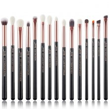 Jessup T157 Brushes Set Black/Rose Gold zestaw 15 pędzli do