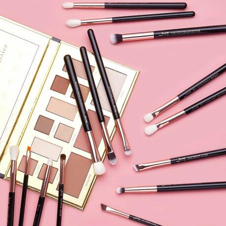 Jessup T157 Brushes Set Black/Rose Gold zestaw 15 pędzli do makijażu oczu