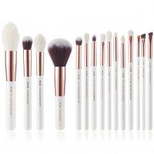 Jessup-T222-Brushes-Set-White-Rose-Gold-zestaw-15-pędzli-do-makijażu-drogeria-internetowa-pędzle-do-makijażu-puderek.com.pl