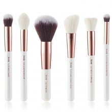 Jessup T224 Brushes Set White/Rose Gold zestaw 6 pędzli do makijażu