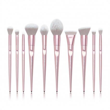 Jessup T260 Luxurious Light Pink Brush Set - zestaw 10 pędzli do makijażu