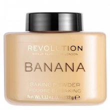 Makeup-Revolution-Loose-Baking-Powder-Banana-sypki-puder-utrwalający-drogeria-internetowa-puderek.com.pl