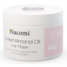 Nacomi Maska do włosów z Olejem ze Słodkich Migdałów, Kwasem Hialuronowym i Proteinami Ryżu 200ml