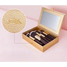 Jessup-Cosmetic-Box-Gold-szkatułka-na-pędzle-z-lusterkiem
