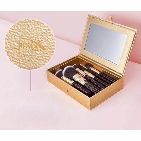Jessup Cosmetic Box Gold - szkatułka na pędzle z lusterkiem