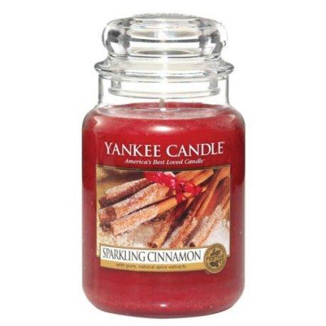 Yankee Candle Sparkling Cinnamon słoik duży świeca zapachowa