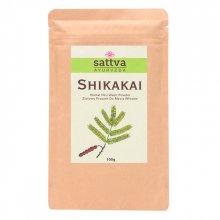 Sattva Herbal Shikakai Powder - Ziołowy Proszek do Mycia Włosów 100g