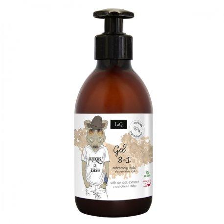 LaQ Zestaw Duży Dzik Żel pod Prysznic, Peeling myjący - Zestaw dla mężczyzn