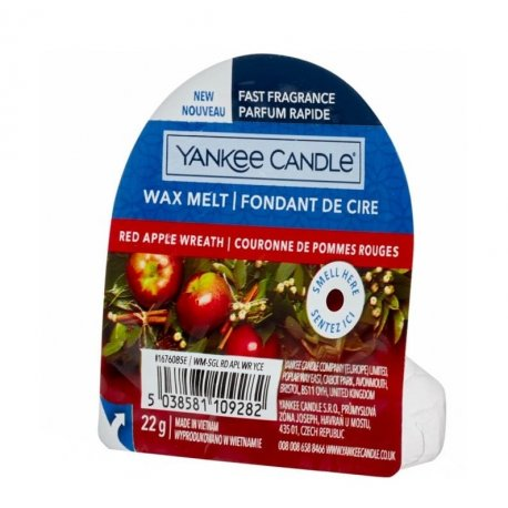 Yankee Candle Red Apple Wreath wosk zapachowy