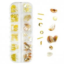 Shell Nail Art - 02 - zestaw ozdób do paznokci