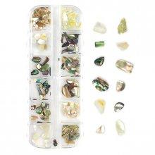 Shell Nail Art - 04 - zestaw ozdób do paznokci