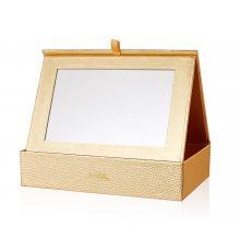 Jessup Cosmetic CB012 Box Gold - szkatułka na pędzle z lusterkiem