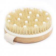 Body Rituals drewniana szczotka do masażu na sucho z włosiem z dzika i wypustkami