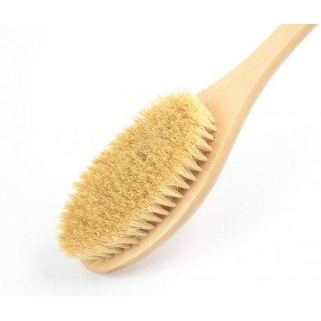 Body Rituals długa szczotka do masażu ciała na sucho z włosiem tampico (agawy)