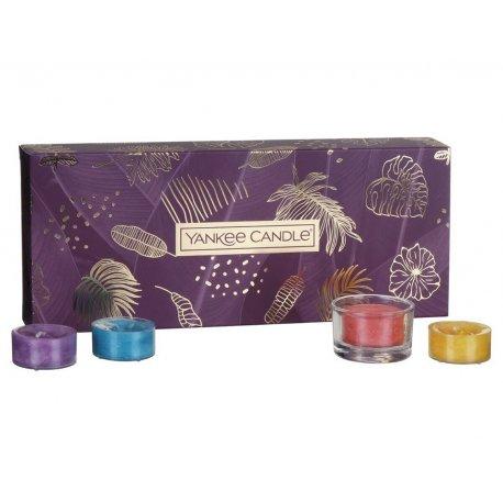 Yankee Candle The Last Paradise - zestaw prezentowy - 10 tealightów + świecznik