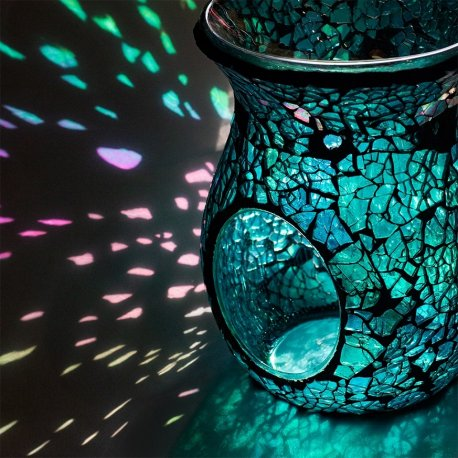 Kominek do wosków - Laguna Turquoise Mosaic - mozaika