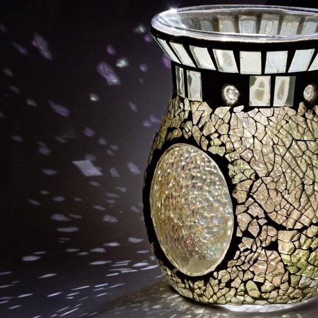 Kominek do wosków - Clear Crackle Mosaic - mozaika