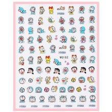 Naklejki na paznokcie - WG102 - manga