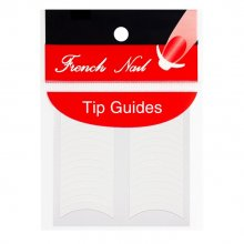 French Nail Tip Guides naklejki do french manicure -półokrągłe