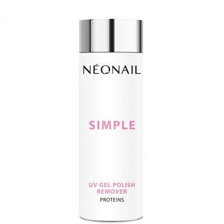 Neonail Simple UV Gel Nail Polish Remover Proteins - aceton do lakierów Simple 200 ml