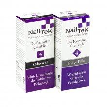 Nail Tek 4 Duo zestaw dwóch odżywek do cienkich paznokci Foundation Xtra + 2 Ridge Filler