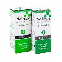 Nail Tek 1 Duo zestaw dwóch odżywek do paznokci Maintenance Plus + 1 Ridge Filler