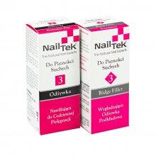 Nail Tek 3 Duo zestaw dwóch odżywek do suchych paznokci Protection Plus + 3 Ridge Filler