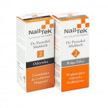Nail Tek 2 Duo zestaw dwóch odżywek do miękkich paznokci Intensive Therapy + 2 Ridge Filler