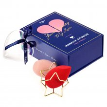 Your Beauty My Love Makeup Sponge Set - zestaw 2 gąbek do makijażu + stojak