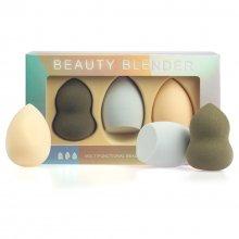Multifunctional Beauty Blender - zestaw 3 gąbek do makijażu