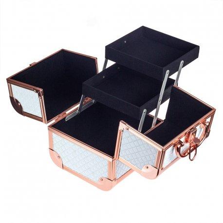 GlamRush kuferek na kosmetyki - White 3D S