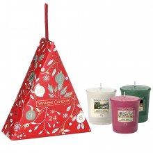 Yankee Candle Countdown to Christmas - zestaw świąteczny 3 samplerów