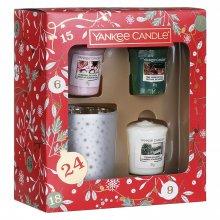 Yankee Candle Countdown to Christmas - zestaw świąteczny 3 samplerów + świecznik
