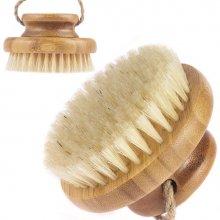 Body Rituals drewniana szczotka do masażu na sucho i mokro z włosiem z dzika