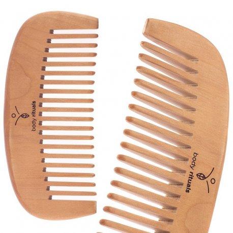 Body Rituals drewniany grzebień do włosów