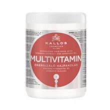 Kallos Multivitamin maska z olejem z avokado i żeń-szeniem 1000 ml