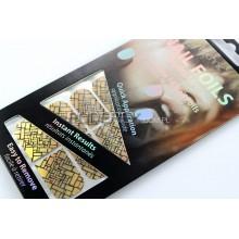 Technic metaliczne naklejki na paznokcie kubistyczny wzór