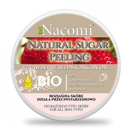 Nacomi-peeling-cukrowy-olej-arganowy-i-truskawka-100-ml-drogeria-internetowa-puderek.com.pl