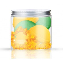Nacomi-musujące-półkule-zestaw-4-szt-sól-morska-pomarańcza-zielona-herbata-330-g