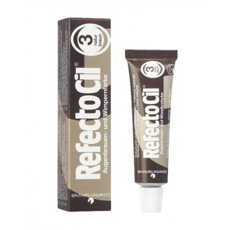 Refectocil Henna Do Brwi I Rzęs 3 Natural Brown 15 Ml Puderekcompl