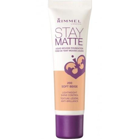 Rimmel-Stay-Matte-201-Classic-Beige-podkład-matujący-drogeria-internetowa