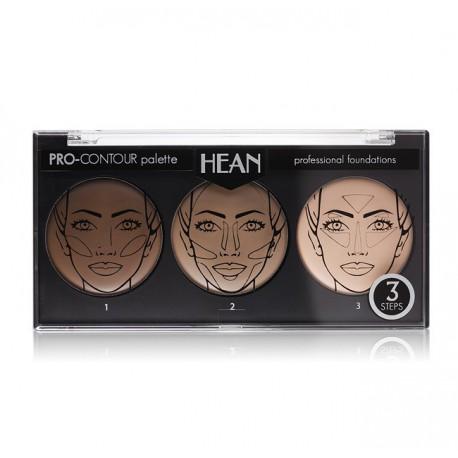 Hean-Pro-Contour-Palette-Professional-Foundations-paleta-podkładów-do-konturowania-konturowanie-twarzy-drogeria-internetowa-pude
