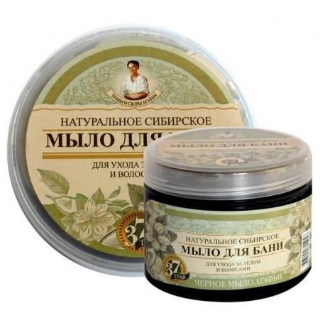 Receptury Babuszki Agafii Syberyjskie czarne mydło do włosów i ciała 500 ml