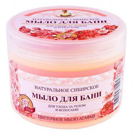 Receptury Babuszki Agafii Syberyjskie kwiatowe mydło do włosów i ciała 500 ml