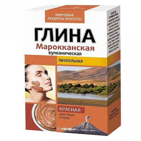 Fitokosmetik-czerwona-glinka-wulkaniczna-Marokańska-odżywcza-100-g