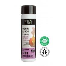 Organic-Shop-Eco-balsam-do-włosów-Miód-i-Winogrona-delikatna-pielęgnacja-280-ml